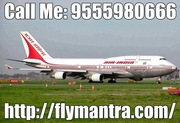 Domestic Flight Services in India @ 09555980666