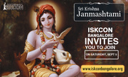 ISKCON Bangalore invites you to join on sri krishna janmashtami 2015
